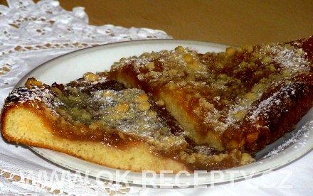 Hruškový koláč s drobenkou + foto