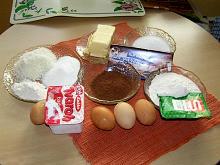 Kakaová kostka s  tvarohem a kokosem + foto postup