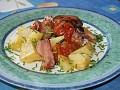 Kuřecí stehýnka na oravské slanině
