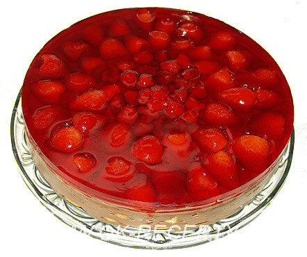 Piškotový dort - dort z piškotů - nepečený + foto postup