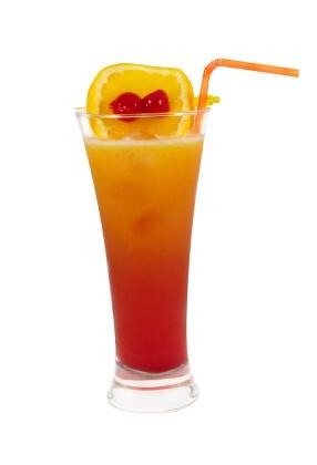 Alkoholické koktejly - Tequila Sunrise